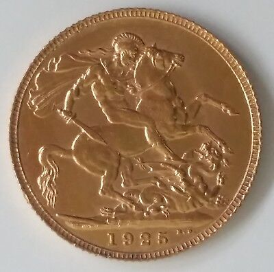 1925 Great Britain One Sovereign Gold ( .916 ) coin George V