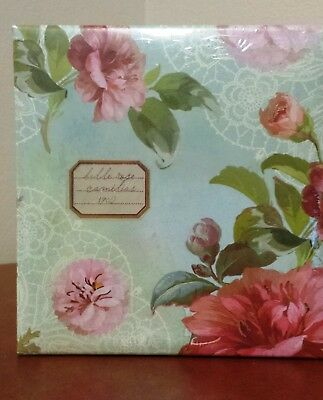 Vintage Camellia Design Notepad with Matching Pen - NEW SEALED
