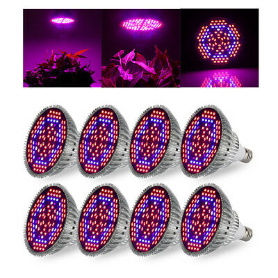 80W E27 Full Spectrum Grow Light Bulb with Blue & Red and IR + UV LED 1/2/4/8Pcs