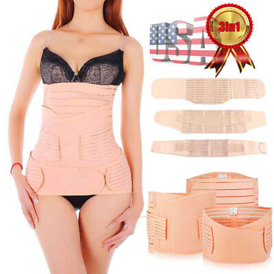 0d1718c261 Women s POST Pregnancy Postnatal Recovery Belly Postpartum Wrap Band Girdle  Belt