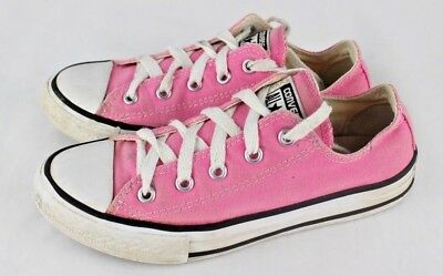 cf4f1daeed63 Converse all star girls pink canvas low top sneakers chuck taylor size 1