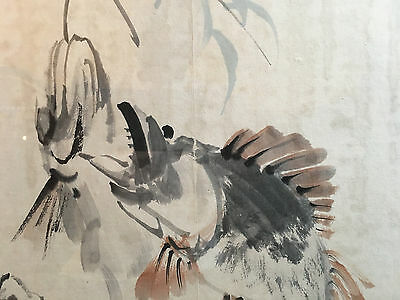 A Pair Chinese brush paintings on Paper, Artist Signed, Framed #4.