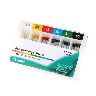Dental Absorbent Paper Points Sterile Mixed Sizes #15-#40 for Dentistry EU9