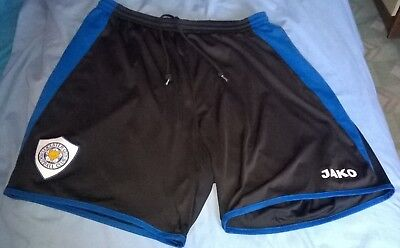Leicester City Shorts Adult Mans Mens Jako Foxes LCFC Large Medium Black VGC