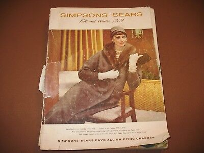 1959 Simpsons-Sears Department Stores Fall & Winter Catalog Fashion Toys Guns