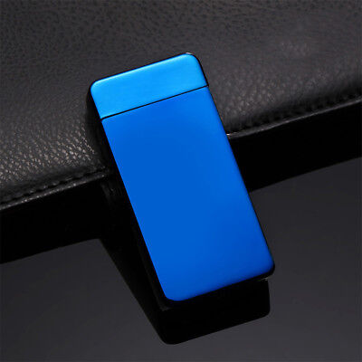 Dual Arc Electric Lighter Rechargeable Plasma Windproof Flameless Cigarette Y4SQ