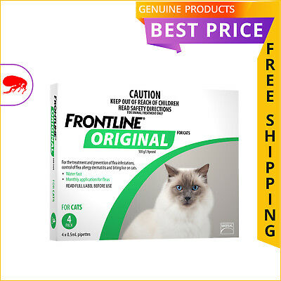FRONTLINE ORIGINAL for Cats 4 Doses GREEN Pack Cat Flea Prevention