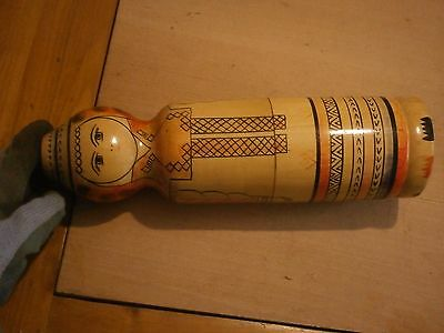 Antique Vintage Unique Wooden Matrioshka Big Size Russian Wooden Doll