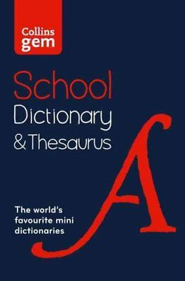 Collins Gem School Dictionary & Thesaurus Trusted Support for L... 9780008102869