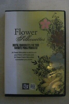- Flower Silhouettes Digital Coordinates For You - Embellish Your Photos $34.75