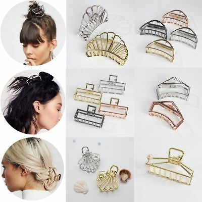New Women Make Up Tool Metal Modern Hair Claw Hair Clips Barrette Bun Maker Claw