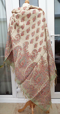 Antique Printed Paisley Shawl/a.f.