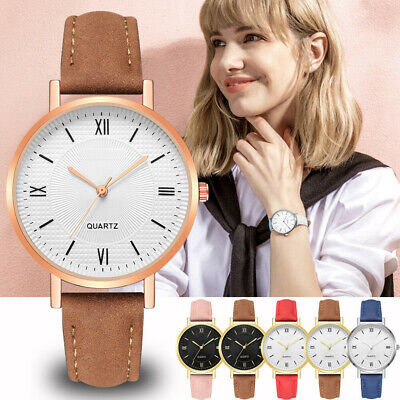 Latest Women Geneva Crystal Stainless Steel Leather Quartz Analog Wrist Watches