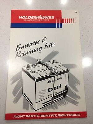 Holden card sign display collectable Excel Battery