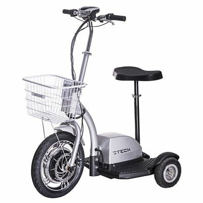 Golfcart 3 Wheel Mobility Scooter FUN Tricycle Trike with basket 10 mph Silver
