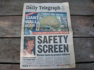 Old Vintage Sydney Newspaper -The Daily Telegraph Tueday, June 6, 2000 Original