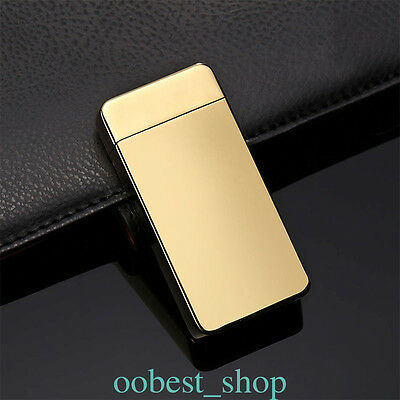 Rechargeable Electric Windproof Dual Arc USB Lighter Flameless Cigarette FKWE