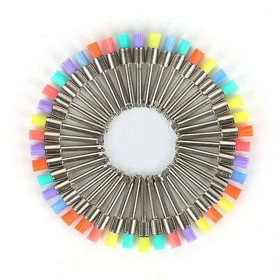100 PCS Mixed Color Nylon Latch Flat Dental Polishing Polisher Prophy Brush BF9W