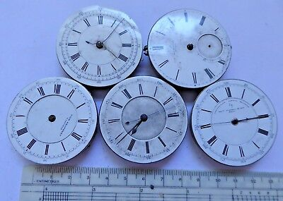 Job Lot of Gent's Antique Chronograph and Other Pocket Watch Movements Ref#5