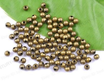500pcs bronze Plated Metal Spacer Charms Beads 2MM