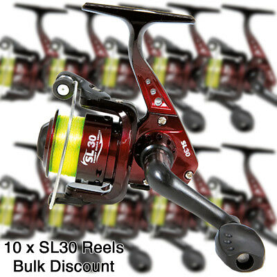 Wholesale Trade Job Lot of 10x 1bb Coarse Fishing Spinning Reels With 8lb Line