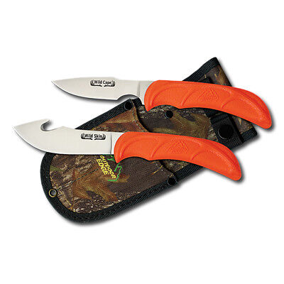 Outdoor Edge Wild Pair WR-1C Hunting Knife Skinner Caper Knives with Sheath