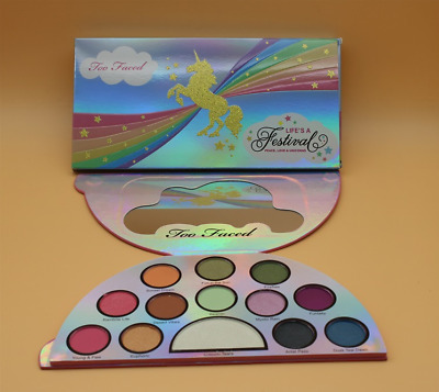 TOO&FACED Eye Shadow & Highlighter Makeup Palette Life's A Festival UNICORN #H