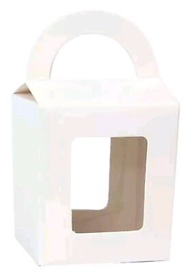 50 x White Cupcake/Lolly Boxes- Wedding Baby Shower Party Favours Bomboniere Box