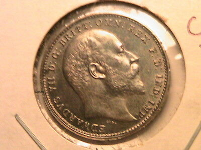 1904 GREAT BRITAIN Maundy 4P Superb Tone Ch BU+ British Four Pence Silver Coin