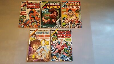 Giant Size Conan the Barbarian  # 1-5 Really Nice
