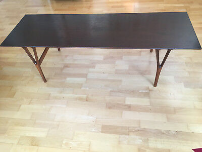 VINTAGE 1950s DANISH MID CENTURY MODERN  Mahogany Rectangular Coffee Table