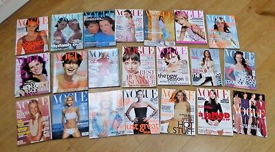 20 x Vintage 1990s VOGUE Magazines and a Vogue's Catwalk Report Kate Moss etc