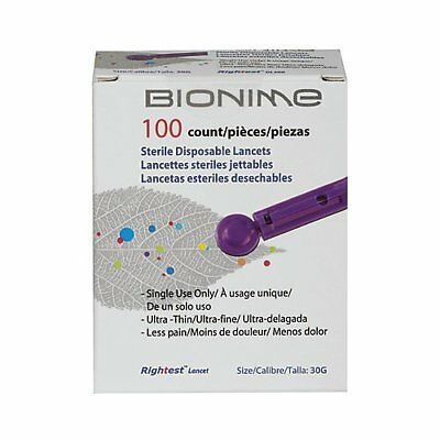 6 Pack Veridian Bionime Lancet 100 Count Each
