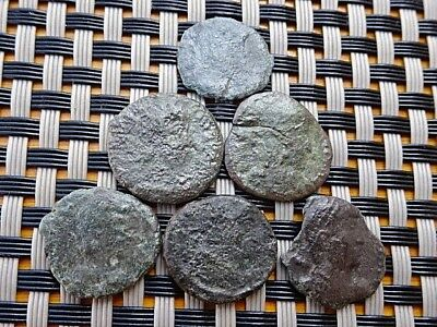 Lot Of 6 Ancient Roman Coins Unknown / Low Condition