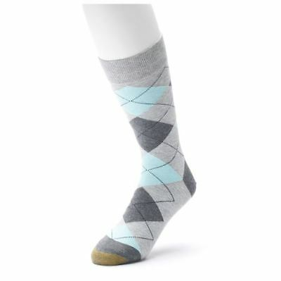 ec418b4fe2a9c GOLD TOE Men's Bohemian Plaid Crew Dress Socks, Argyle, multi-color, 10