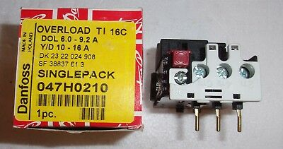 Danfoss Ti16C Overload Relay OEM 047H0210 TYPE TI 16C  NEW