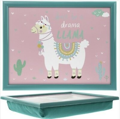 Llama Lap Tray Desk Serving Food Bean Bag Gift Fun Design Animal Cushion Padded