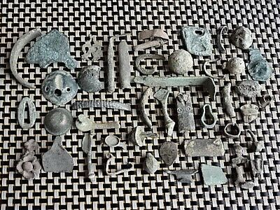 Lot Of 45 Authentic Roman And Byzantine Medieval Bronze Artifacts / (1)