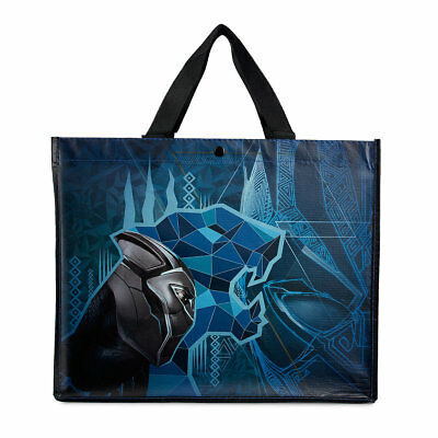 "Disney Marvel Black Panther w/Graphic Designs Reusable Tote. NEW. 12 X 15""."