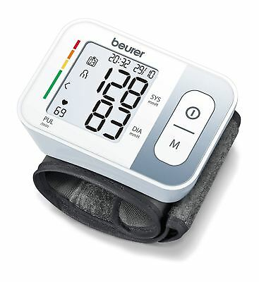Beurer BC28 Automatic Wrist Cuff Blood Pressure Heart Rate Beat Monitor Reading