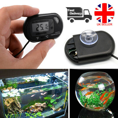 Digital LCD Fish Tank Aquarium Marine Water Terrarium Thermometer Temperature UK