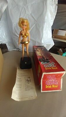 Vintage 1969 GO GO GIRL Drink mixer in the box Poynter Products Inc.