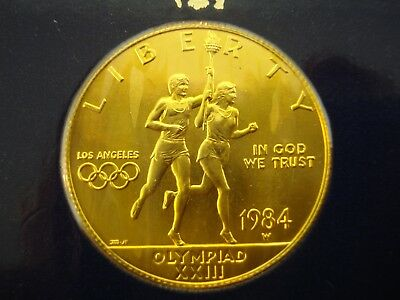 1984-W Gold $10 L.A. Olympic Coin SEALED in CARD 16.7 Grams **NO RESERVE**