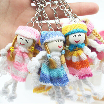 Lovely Doll Pendant Keychain Mini Ddung Doll Key Ring Bag Phone Ornament Gifts