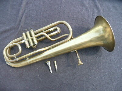 RARE OLD FRENCH Bb SAXHORN AROUND 1850! PARTICULAR VALVE SYSTEM by MULLER - LYON