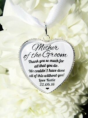 Mother Of The Groom Quote Gift Thankyou Bouquet Charm Personalised From Bride