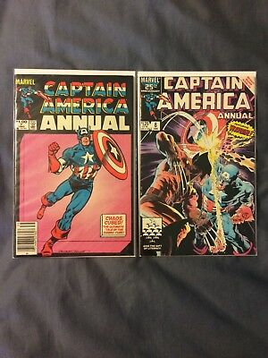 Lot of 2 MARVEL COMICS CAPTAIN AMERICA ANNUALS #7 AND #8