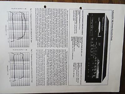 Nakamichi 582 test print by Trans Tec from Audio August 1979 no copy