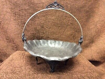 James Tufts Aesthetic Movement Victorian Quadruple Silverplate Bride's Basket