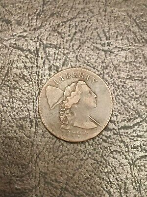 1794 Liberty Cap large cent rare Apple Cheeks S-24.   High grade